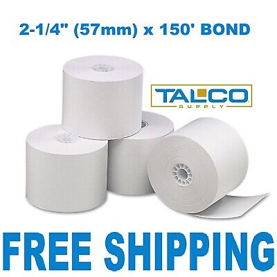 3 Calculator Plain Paper 2-14 X 150 Bond Rolls Free Shipping