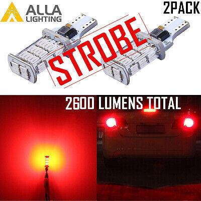Alla 921 LED Red Legal Blinking Brake|Flashing Center High third Stop Light Bulb