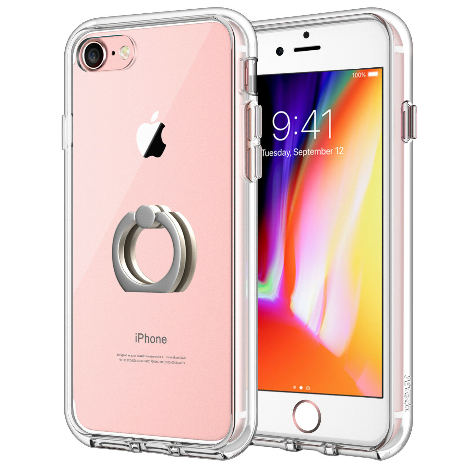 JETech Case for iPhone 8 and iPhone 7 Shockproof Bumper Cove