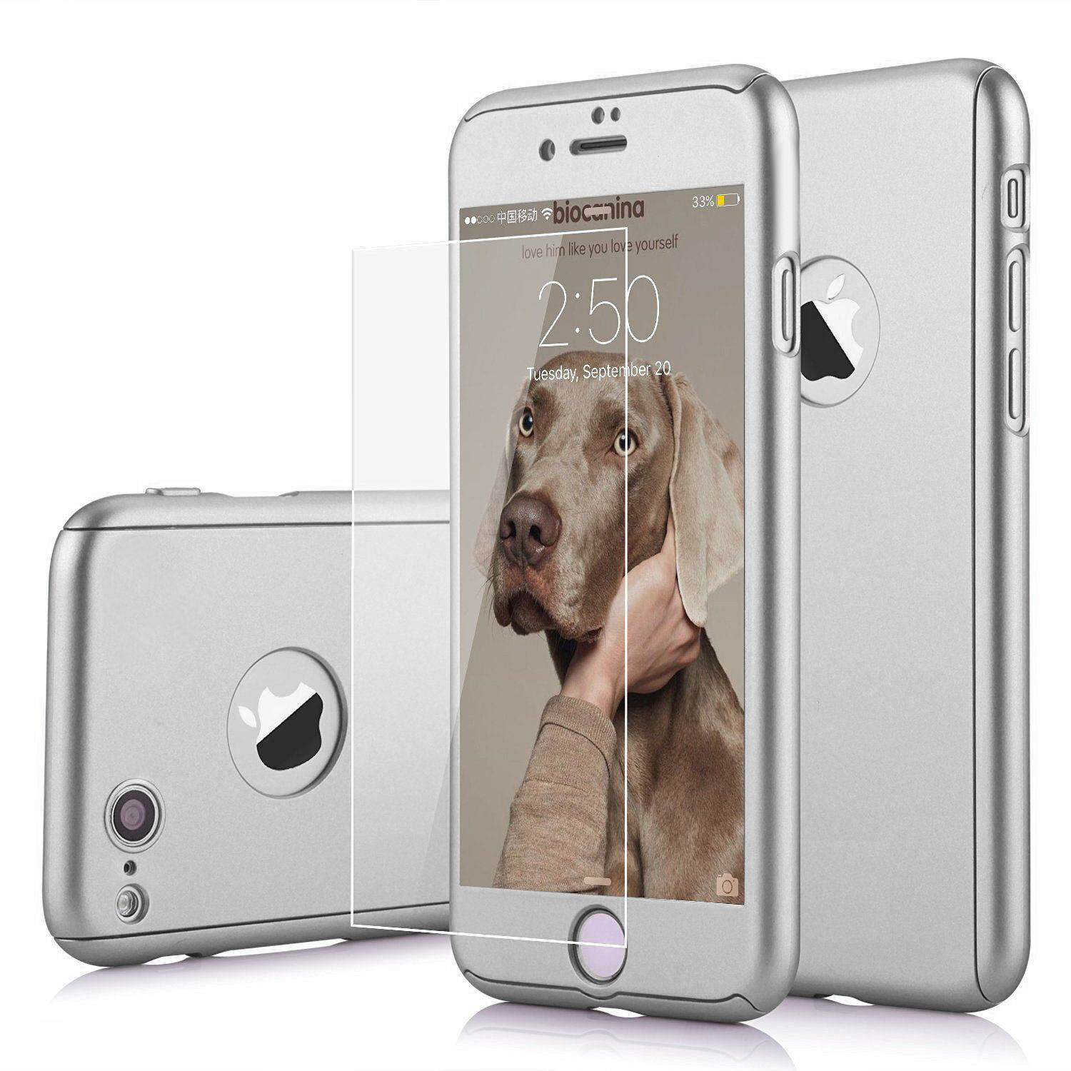 Ultra Thin Slim Hard Case Cover For Apple iPhone 6 / 7 / 8 Plus + Tempered Glass