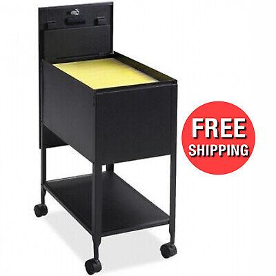 Rolling File Cart 1 Drawer Metal Mobile Lateral Filling Cabinet Folder Organizer