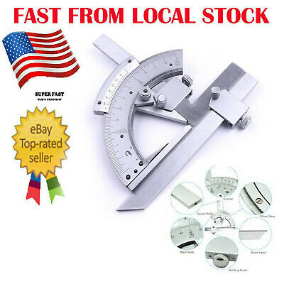Precision 0-320 Angle Measuring Finder Bevel Protractor Tool Ruler Gauge In Us