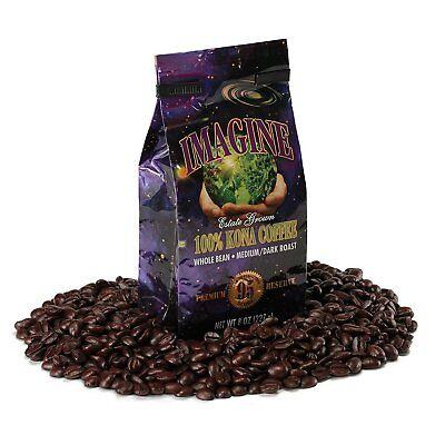 Kona Coffee Beans by Cook up 100% Kona Hawaii Medium Dark Roast Whole Bean 16 oz