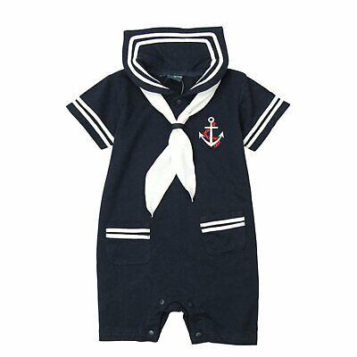 Bilo Baby Boy Marine Sailor Costume Romper One set (Infant Sailor Costume)