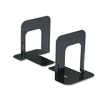 Universal Economy Bookends Standard 4 3/4 x 5 1/4 x 5 Heavy Gauge Steel Black