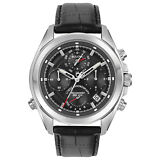 Bulova Precisionist Men's 96B259 Quartz Chronograph Leather Strap 44.5mm Watch