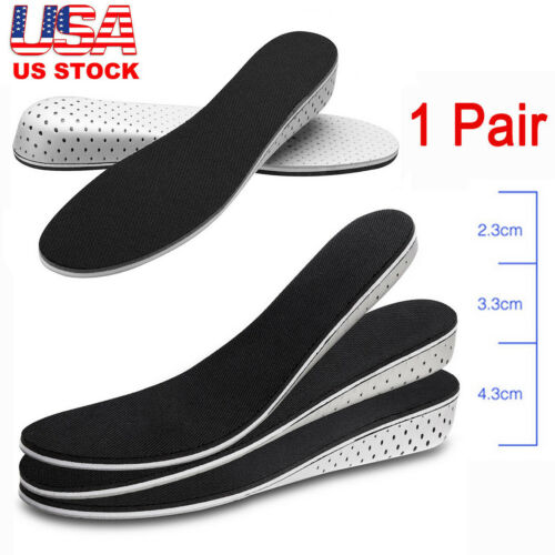 Air Cushion Height Soft Plantar Increase Elevator Shoe insoles Lifts Pad Taller