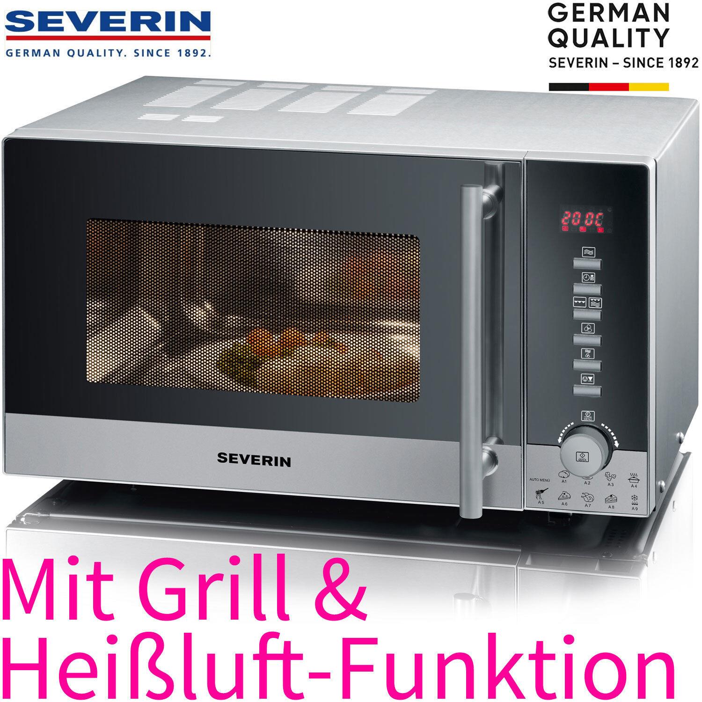 Severin Edelstahl Kombi Mikrowelle Grill + Heißluft 20 Liter Auftaustufe 800Watt