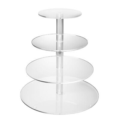 Tree Cupcake Stand (4 Tier Cupcake Stand Holder Tower Display Tree Acrylic Cake Carrier)