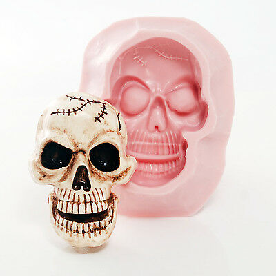 Large Skull Silicone Mold - Food Safe Chocolate - Soap, Wax, Resin, Clay  (557)