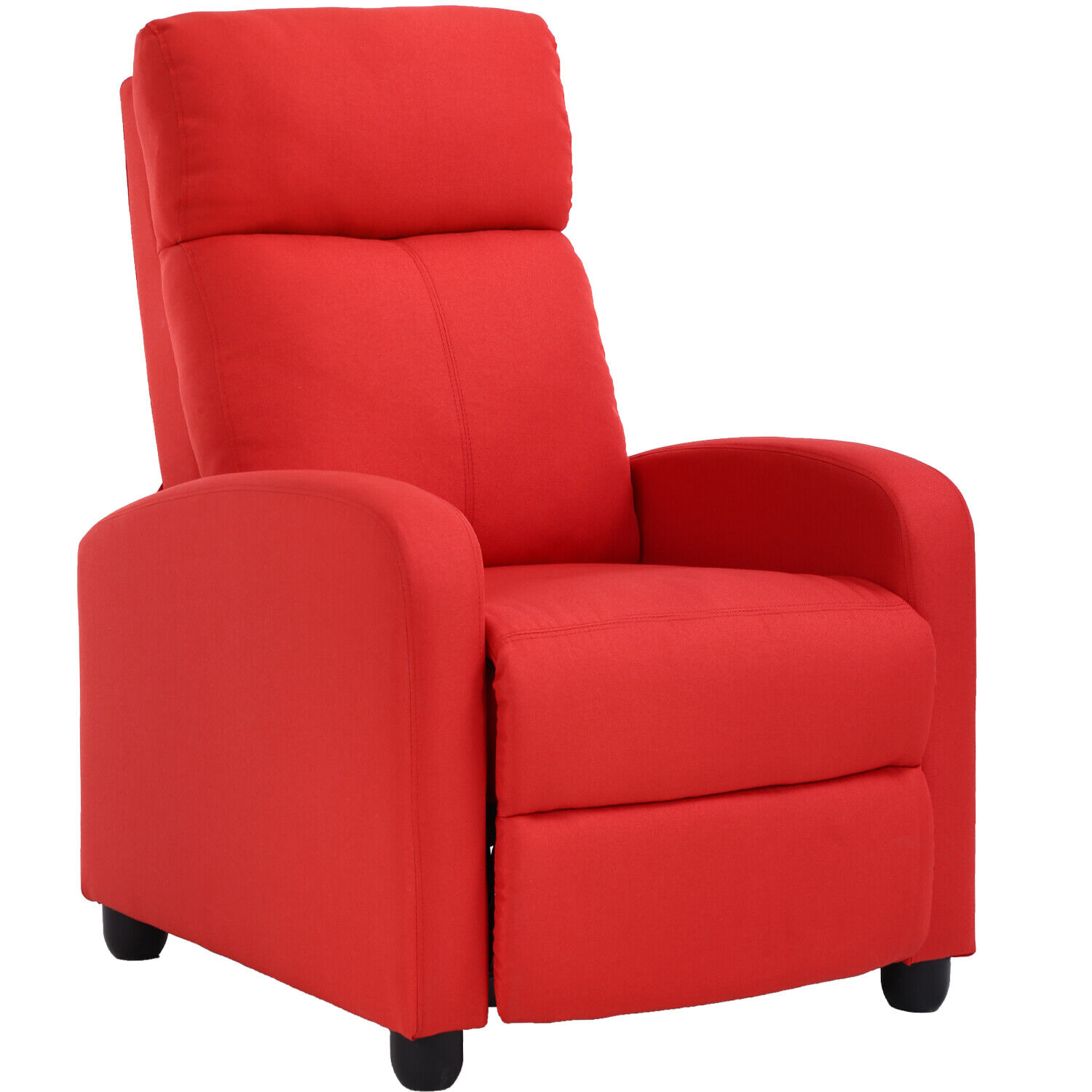 Recliner Chair Home Theater Seating Easy Lounge with Fabric Padded Seat Backrest Furniture