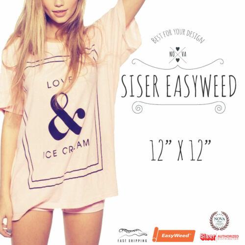 "Siser EasyWeed® HTV Heat Transfer Vinyl for T-Shirts 12"" by 12"" Sheet(s)"