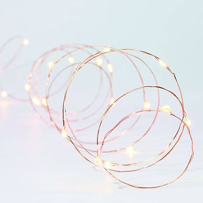 Better Homes and Gardens LED Mini Light String 36ct Warm White Mini Copper