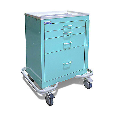 Alimed 4-drawer Emergency Medical Cart Double-wall Steel Construction