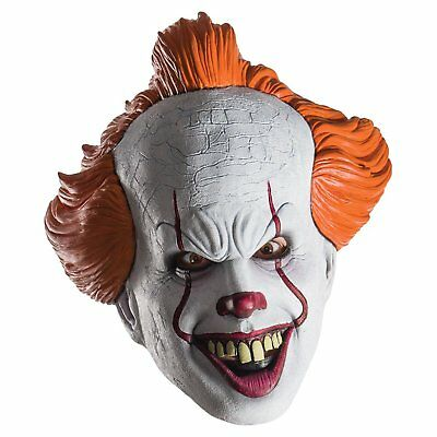 Pennywise  IT Movie 2017 Licensed  Rubies Adult Mask *same day shipping from - 2017 Halloween Costumes Mens
