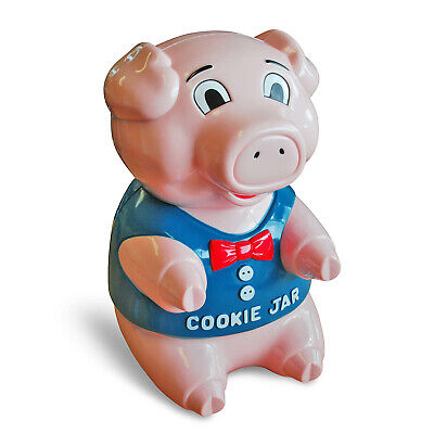 Pink Cookie Jar (Talking Piggy Cookie Jar Biscuit Snacks Container With Oinking Sound Pink Pig)