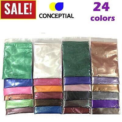 Mica Powder Pigments Soap Dye Candle Colorant Bath Bomb Cosmetic Grade 24 Colors