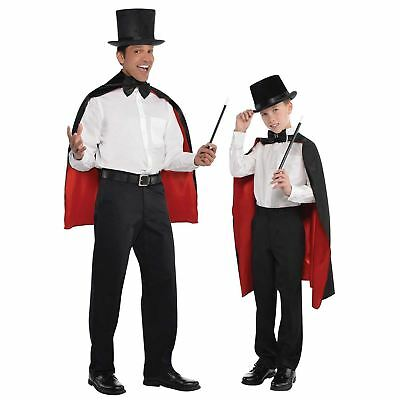 Deluxe Zauberer Harry Vampir Umhang Cape für Erwachsene - Satin Vampir Cape Kostüme