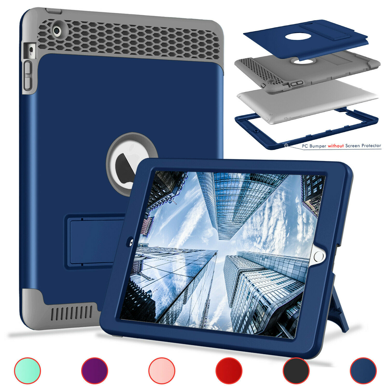 Hybrid Rugged Case For iPad 234 5th 6th Generation mini 1234