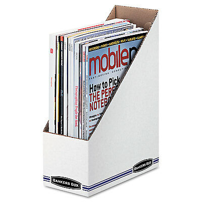Bankers Box Corrugated Cardboard Magazine File 4 X 9 14 X 11 34 White 12
