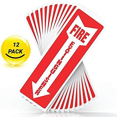 Fire Extinguisher Self Adhesive Sign Sticker With Arrow Symbol 4 inch by 12 inch
