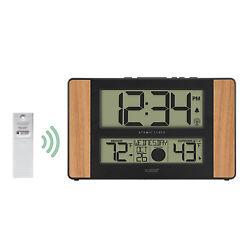 513-1417 La Crosse Technology Atomic Digital Wall Clock with TX141-BV2 Sensor