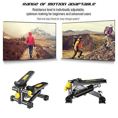 Mini Stepper Máquina de Step con 2 Bandas Resistencia y Pantalla Digital...