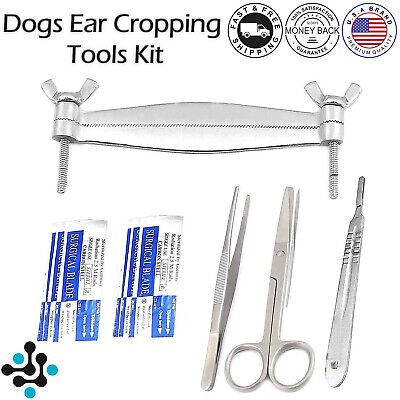 Premium Pitbull Dog Ear Cropping Clamp Guide Tools Kit Veterinary Instruments Vt