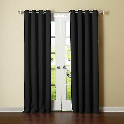BEST HOME FASHIONS THERMAL INSULATED BLACKOUT CURTAINS- BACK TAB/ROD POCKET 52