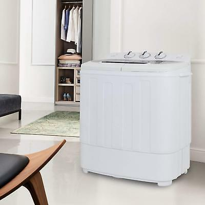 Compact Twin Tub Washing Machine Fast Dryer & Efficient Spin Washer Top...