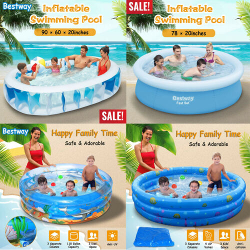 Summer Water Party S Outdoor Swimming Pools Easy Set Swimming Pool for Backyard Orfilaly Inflatable Swimming Pool Inflatable Lounge Pool for Kiddie Family Lounge Pool Adults Blue, 15010550