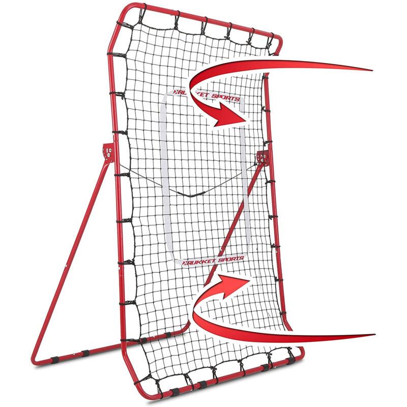 Rukket Sports Pitch Back Baseball & Softball Rebounder Pro Practice Throwing Net