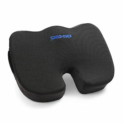 Plixio Memory Foam Coccyx Tailbone Seat Cushion Orthopedic Non-Slip Chair Pillow