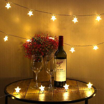 40 LED Star String Christmas Lights Fairy Lights for Christmas Party Decoration (Star String Lights)