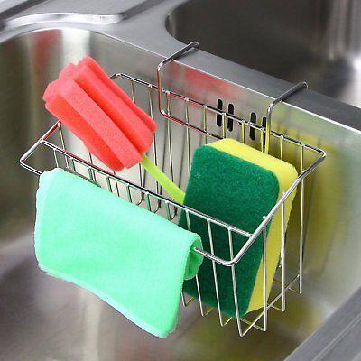 Sponge Holder Aiduy Sink Caddy Kitchen Brush Soap Dishwashin