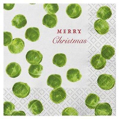 rty Papier Geschirr Grün Sprout NEUHEIT Gemüse Servietten (Papier Geschirr Weihnachten)