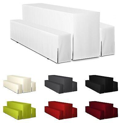 hussen f r bierzeltgarnitur 3tlg set basic lang bierbankhussen festzeltgarnitur ebay. Black Bedroom Furniture Sets. Home Design Ideas
