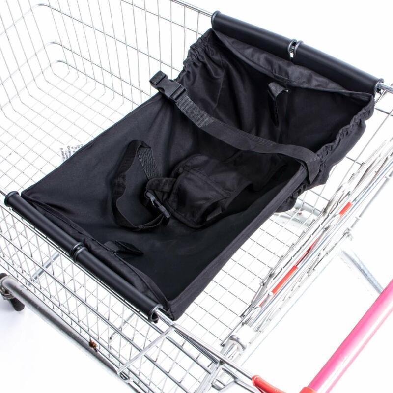 New Baby Supermarket Shopping Cart Hammock Chair Portable Bag Black