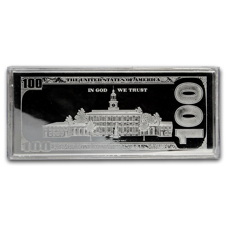 4 oz Silver Bar - 2016 $100 Bill (w/Box & COA) - SKU #94106