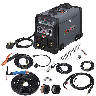 Mts-205 Amp Mig Flux Cored Tig Stick Arc Dc Welder 3-in-1 Combo Welding New