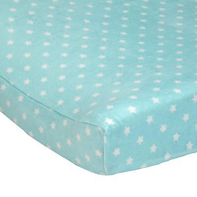 Carter's Baby Changing Pad Cover, light Turquoise Stars, One Size