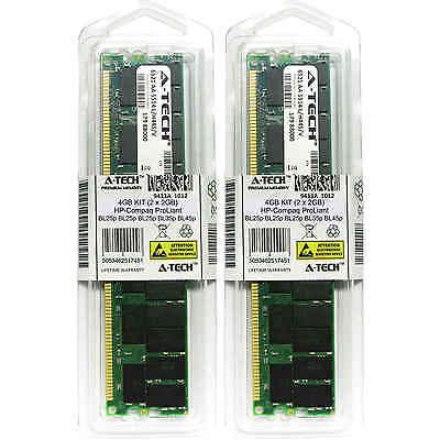 4 Gb Pc3200 Kit (4GB KIT 2 x 2GB HP Compaq ProLiant BL25p BL35p BL45p DL145 PC3200 Ram)