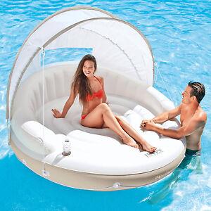 Intex Ø 199 cm Schwimmliege Pool Lounge Wasserliege Badeinsel Luftmatratze 58292