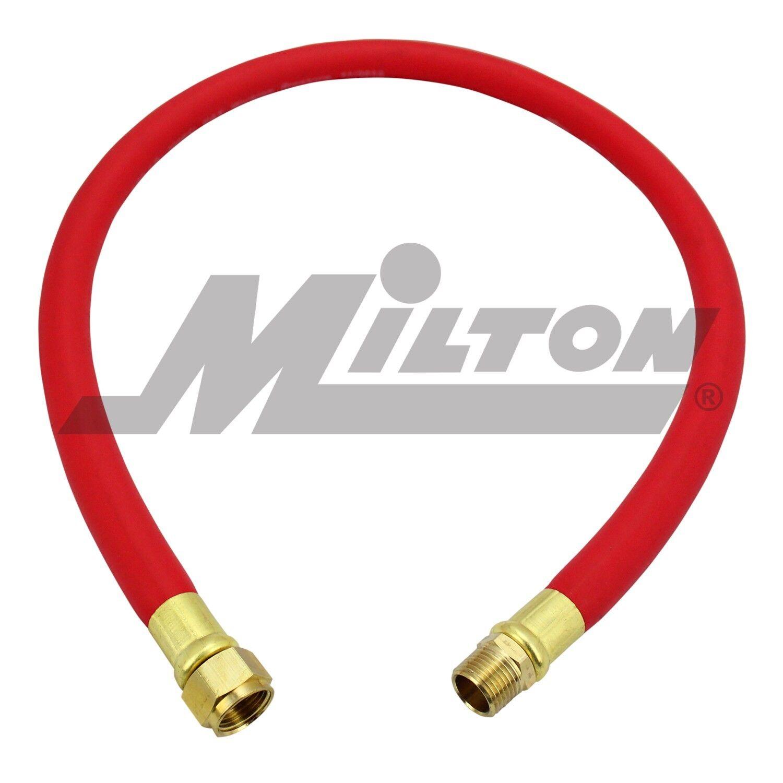 Milton 1633 50 Foot EPDM 3//8 ID Rubber Air Hose Milton Industries
