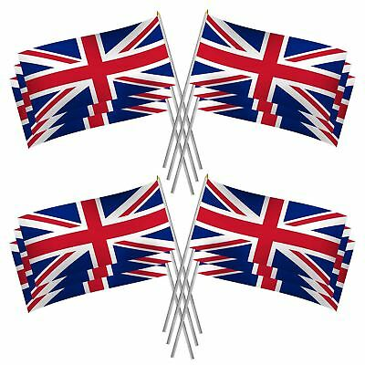 10 Union Jack Hand Waving Flag GB Flags Royal British Street Party Celebration