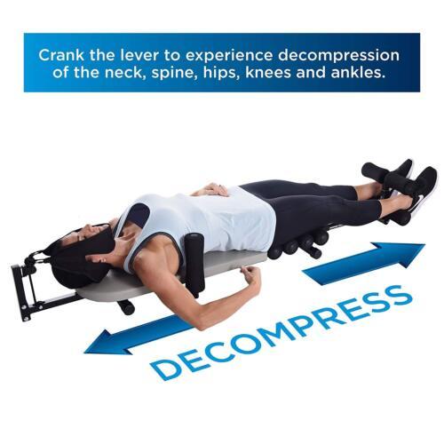 Stamina InLine BACK STRETCH BENCH w/ CERVICAL TRACTION Neck Spine DECOMPRESSION