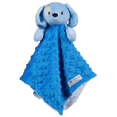 Baby Security Blanket Blue Puppy Dog Plush Toy Gift, Boys, Shower Mod Dot MP B14