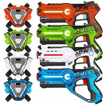 Best Choice Products Set of 4 Infrared Laser Tag Blaster & Vest Set for Kids