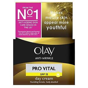 Olay Anti-Wrinkle Day Cream Pro Vital Anti-Ageing Moisturiser SPF15 Mature 50ml