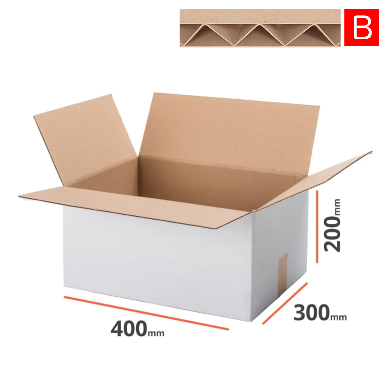 40 Faltkartons 350x250x100 mm Einwellig Versandkartons Karton B-Welle braun
